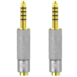 Geekria Apollo 4.4mm Male to 3.5mm and 2.5mm Female Balanced Gold-Plated Adapter