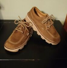 "HUSH PUPPIES Boys Size ""2"" TAN Suede Leather dress/casual shoes (new w/out box)"