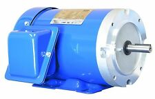 1 HP Electric Motor  56C Frame 3 Phase 1800 RPM TEFC Inverter rated