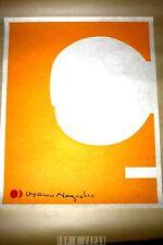 Rare Akari Isamu Noguchi print on Japanese Washi paper 1 AY Orange Picture Paper