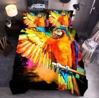 3D Color Gouache Parrot Wings KEP5014 Bed Pillowcases Quilt Duvet Cover Kay