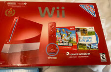 Nintendo Wii Limited Edition Red Console with Wii Sports and New Super Mario...