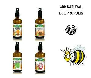 Spray Throat Propolis, Antiseptic,glass bottle pomp,Herbal support,Grip,Select: