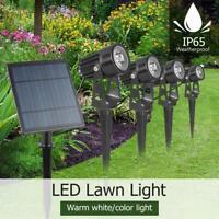 Solar LED Lamp Garden Lawn Multicolor Landscape Spike Spot Lights Path Outdoor