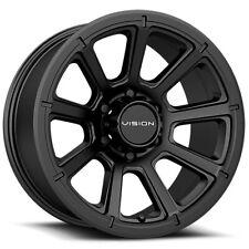 "4-Vision 353 Turbine 16x8 6x5.5"" +0mm Matte Black Wheels Rims 16"" Inch"