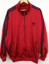 Mens Vtg Adidas Tracksuit Top Jacket Firebird F1 Retro in Burgandy/Red Large D8