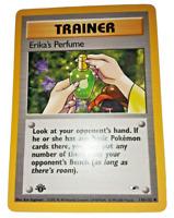 Pokemon Card - 1st Edition Erika's Perfume - (110/132) Gym Heroes ***NM***