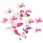 12pcs Butterfly Design Wall Stickers 3d Art Decal Home Room Decorations Decor