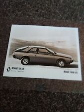Renault UK Ltd Fuego GTS Laminated Showroom b&w Photo UK Dealer - rare