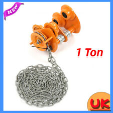 More details for 1 ton manual geared beam trolley mechanical push beam roller trolley + 3m chain