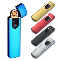 Fingerprint Touch Sensor USB Rechargeable Arc Flameless Plasma Electric Lighter