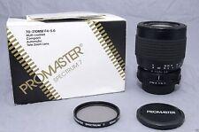 PROMASTER/MINOLTA 70-210mm f4~5.6 LENS! 90-DAY WARRANTY! EXCELLENT PLUS COND!