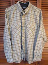 Arrow Acrylic Beige Plaid Long Sleeved Shirt Men's Size XL