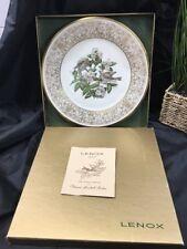 1970 Lenox Porcelain Plate Boehm Birds Wood Thrush First In A Series W /Box