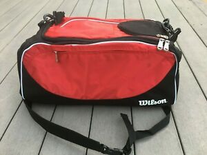 Wilson Sport Bag/Backpack, Black/Scarlet Volleyball, Basketball & More