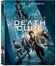 MAZE RUNNER THE DEATH CURE (BLU-RAY+DVD+DIGITAL HD 2018) W/SLIPCOVER, BRAND NEW