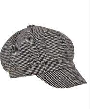 New Cap Wool Dog Tooth Hound Baker Boy Hat Peaky Blinders O/S Tweed