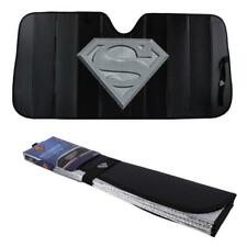 Official Licensed Superman Silver Shield Black Folding Front Windshield Sunshade
