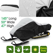 "Trailerable Waterproof Outdoor Ski Snowmobile Sled Cover Storage 145""x 50""x 47"""