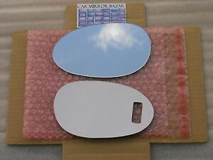 542LF FOR 98-06 SMART FORTWO Mirror Glass + FULL SIZE ADHESIVE Driver Side Left