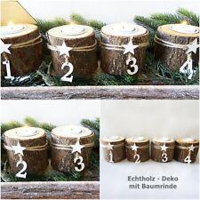 Adventskerzen Weihnachten Advent 1234 Kranz Deko Stumpen Kerzen Teelicht halter