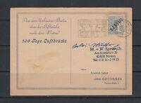 Berlin Mi-Nr. 5 auf Postkarte mit Luftbrückenstempel + Charlottenburg 2