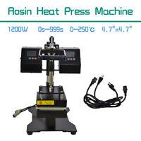 1200WRosin Heat Press Machine Dual Heating Elements Swing-Arm High Pressure 220V