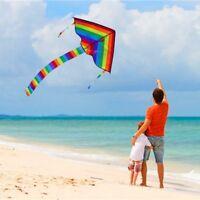 Verschiedene Regenbogen Dreieck Drachen Draußen Spaß Sport Strand Kinder #hx