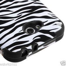 LG OPTIMUS L90 D415 TMOBILE METRO HYBRID T ARMOR CASE SKIN COVER WHITE ZEBRA