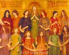 Alleluya by Thomas Cooper Gotch - Girls Choir Sing Hallelujah 8x10 Print 2397