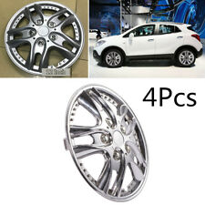 "DIY 4Pcs ABS Silver Car Wheel Rim Skin Cover 12"" Steel Wheel Hubcaps Wheel Cover"