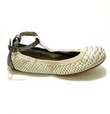 Yosi Samra YS Foldable Ballet Flats Ivory T Strap Pick Size Packable PICK SIZE