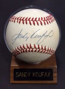 Sandy Koufax Hand Signed NL Baseball in case Brooklyn Dodgers mt Autograph JSA