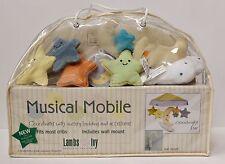 New Lambs & Ivy Goodnight Star Musical Mobile Crib Nursery Moon Stars Blue Green