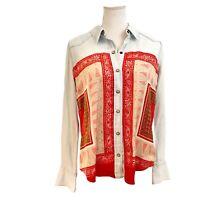Lucky Brand Women's Western Button Down Shirt Jacket L Light Blue Denim Boho