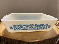 Vintage Pyrex Blue Horizon 1-1/2 quart casserole dish ovenware NO LID #0503