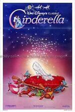 Cinderella R1987 Disney Animation US one-sheet Slipper Style