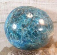 Blue Apatite Palm Stone Crystal Reiki Wicca Communication Balance 26441E
