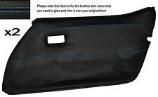 Punto azul 2x Completa Frontal Puerta Tarjeta Cuero Skin Tapa se ajusta Corvette C3 78-82