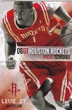 2006-07 Houston Rockets Basketball Pocket Schedule