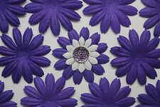 "100! Mulberry Paper Flower Petal Blossom - Large Purple Daisy Flowers - 4cm/1.5"""