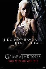 Game of Thrones Gentle Heart Poster! Daenerys Emilia Clarke Fantasy Drama New!