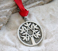 TREE OF LIFE STAR OF DAVID Pewter Christmas ORNAMENT