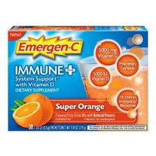Emergen-C Immune Plus System with Vitamin C D Zinc Super Orange  30 Ct