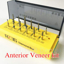 Dental Preparation Teeth Kit 12pcs For Anterior Veneer Clinic Dentist