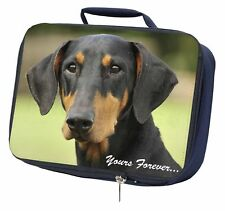 """Doberman Pinscher Dog """"Yours Forever..."""" Navy Insulated School Lunch , AD-D2yLBN"""
