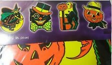 4 9.5inch Halloween Vintage Retro Look Halloween Wall Decor 2 Sided cat Witch