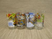 Lot of 4 The Great Muppet Caper Glasses 1981 McDonalds Jim Henson 16 ounce