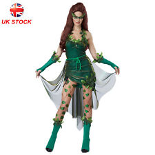 Lethal Beauty Costume Poison Ivy Super Villainess Women Fancy Dress