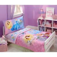 Disney Mix Princesses Toddler 4 Piece Kids Girls Bedding Set BRAND NEW SEALED